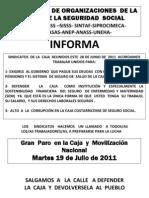 VOLANTE- 19 DE JULIO-MOVILIZACIÓN POR LA CCSS -2011