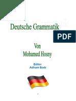 Deutsche Grammatik Von Mohammed Hosny
