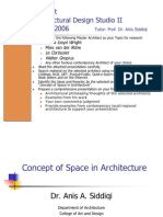 Concept of Space in Architecture