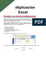 Multiplicación Excel