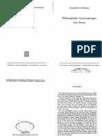 Stroeker, Philosophische Untersuchungen zum Raum