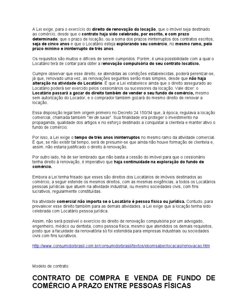 Fundo De Comercio 2011 Orientações