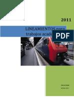 Lineamientos de Trabajos ENE'11
