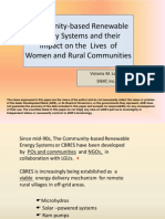 Community-based Renewable Energy Systems and their Impact on the Lives of Women and Rural Communities