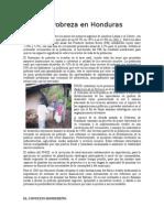 La Pobreza en Honduras
