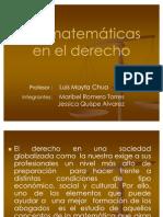 LAS MATEMÁTICAS EN EL DERECHO