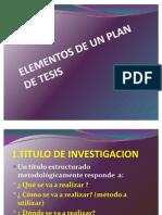 Elementos de Un Plan de Tesis