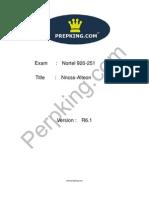 Prepking 920-251 Exam Questions