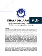 Dhaka Declaration by Swan
