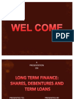 Shares, Debentures & Term Loans