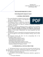 THE FRAMEWORK REGULATION on the Regional Development Council