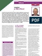Le contrôle des comptes à l'aide du langage VBA d'Excel, par Benoît-René RIVIERE, Revue Française de Comptabilité n°445 (juillet-août 2011), pages 43-47 (www.auditsi.eu)