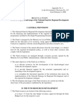 REGULATION on the development and usage of the National Fund for Regional Development resources