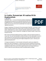 In India, Dynamism Wrestles With Dysfunction