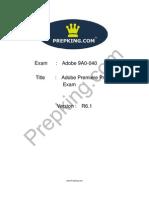 Prepking 9A0-040 Exam Questions