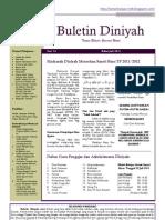 Buletin Diniyah Vol. I