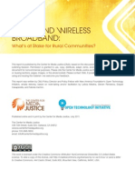 Wired and Wireless Broadband