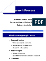 Lecture 01. the Research Process