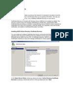 Server 2008 Certificate Services