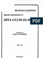 Imam al-Ghazzali - Ihya'ul ulum al-din - volume 3
