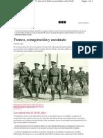 Franco Conspiracion y Asesinato