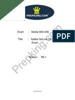Prepking 9A0-046 Exam Questions