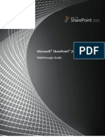 SharePoint 2010 Walkthrough Guide