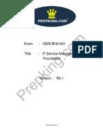 Prepking BH0-001 Exam Questions