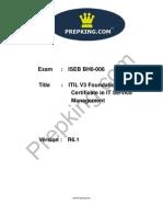 Prepking BH0-006V4.68 Exam Questions