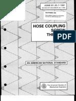 ANSI-ASME B1.20.7 Hose Coupling Screw Threads (1998 20p)