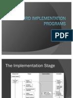 HRD Prog Implementation