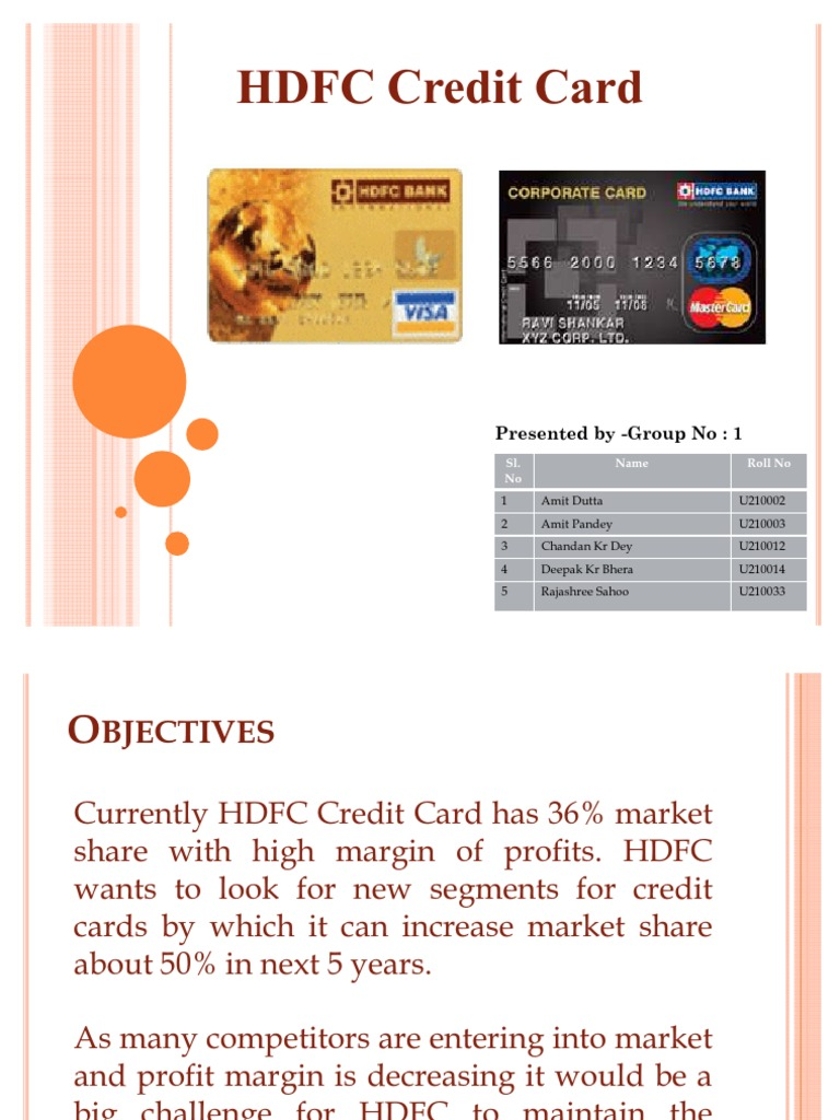 Hdfc Credit Card Credit Card Master Card