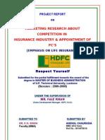 HDFC - Marketing - Insurance Sector