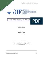 OIF-CDR-01.0-CDR-format
