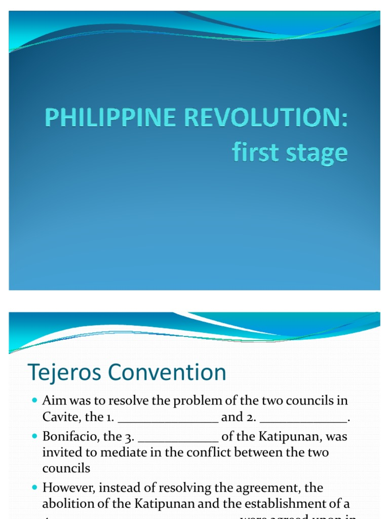 1st Stage Of Philippine Revolution