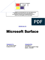 Report of Surface