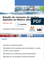 Estudio de Consumo de Medios Digitales en Mexico 2010