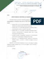 1 - Adresa 124 din 24.05.2011 - înaintare documente către ITM DJ