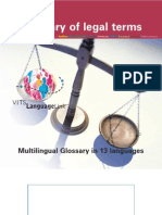 Glossary of Legal Terms- Multiligual Glossary in 13 Laguages