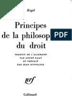 HEGEL - Principes de La Phi Lo Sophie Du Droit