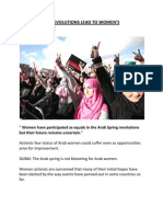 WILL THE ARAB REVOLUTIONS LEAD TO WOMEN'S EMPOWERMENT?