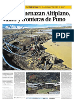 Mafias Amenazan El Altiplano Valles y Fronteras de Puno