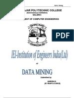 Paper on Data Mining