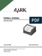 Manual Para Impresora E250dn