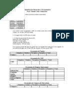 Exercicio de Administração financeira e Orçamentária