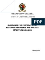 Guidelines 4 Prepn of AGG 500 Proposals & Reports