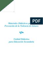 17. Materiales didácticos para le prevención de la violencia de género. Secundaria