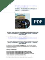 APOSTILA PETROBRAS TECNICO MANUTENÇÃO Jr. QUIMICA - CONCURSO 2011