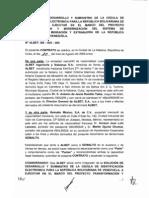 Contrato en la empresa cubana Albet y la filial mexicana de Gemalto para proveer la cédula electrónica a Venezuela