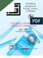 Tuberias PVC y Piezas - Dimensiones